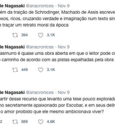 Esta thread do Twitter cria uma interpretação completamente nova para 'Dom Casmurro'
