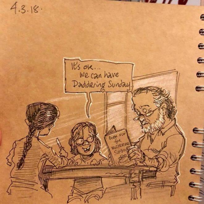 marido desenha morte esposa 4