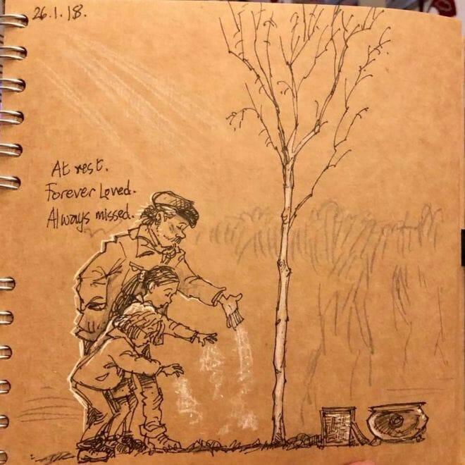 marido desenha morte esposa 5