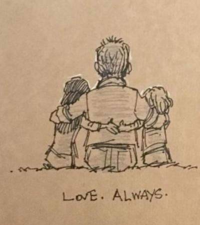 A receita para este pai sobreviver após a morte da esposa foi criar um desenho por dia