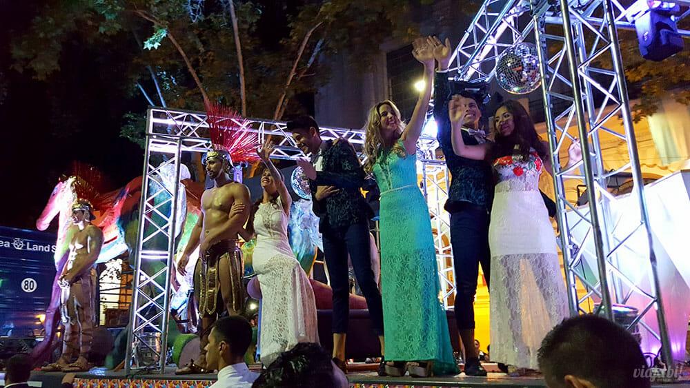 Carro da Vendímia Gay no desfile de abertura da Festa da Vendímia, em Mendoza, na Argentina - Foto: Rafael Leick / Viaja Bi!