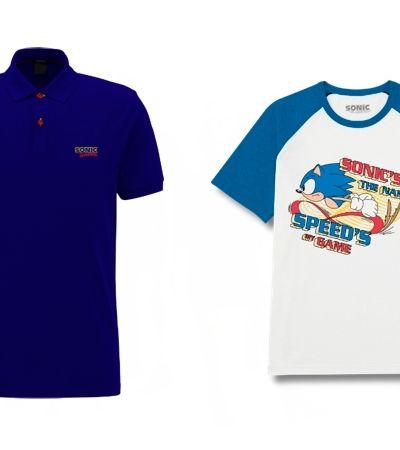 Sonic finalmente ganha uma coleção de roupas para chamar de sua
