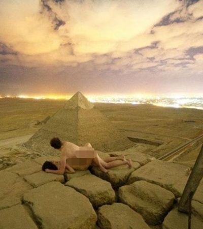 Autoridades egípcias estão furiosas com o vídeo de um casal fazendo sexo no topo da Pirâmide de Gizé