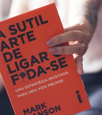 'A Sutil Arte de Ligar o Foda-se' lidera lista de livros mais vendidos da Amazon