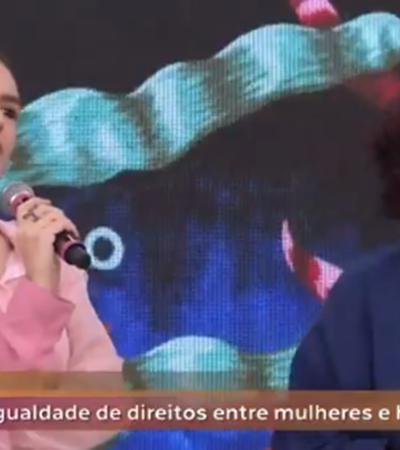Homem tenta explicar feminismo e Kéfera destrói no Encontro com Fátima