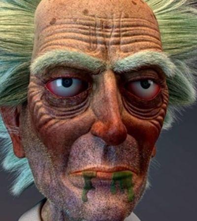 Artista cria versão 3D 'realista' e incrível de 'Ricky and Morty'