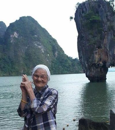 Vovó de 90 anos viaja o mundo e compartilha experiências no Instagram