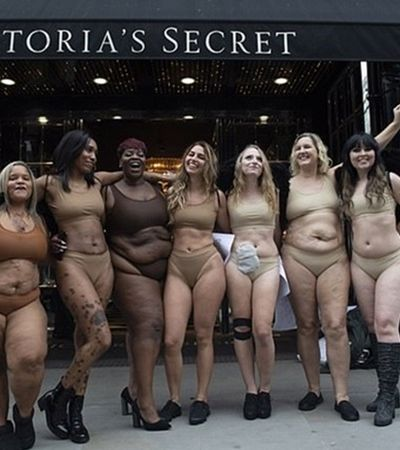 Mulheres reais tiram a roupa contra os padrões impossíveis da Victoria's Secret