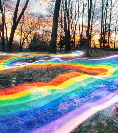 Artista brasileiro transforma paisagens com arco-íris sem alterações digitais