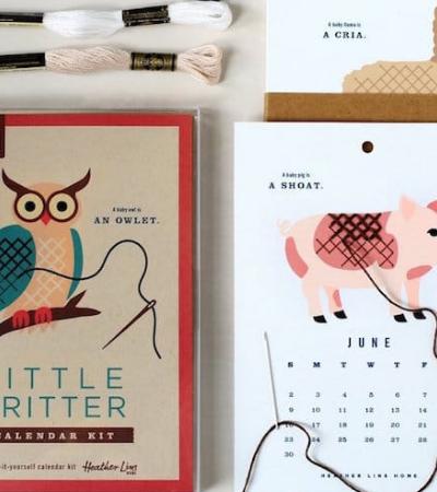 Calendário DIY para pintar e bordar (literalmente) todos os meses do ano