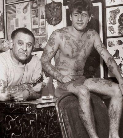 Fotos do lendário Les Skuse, fundador de um dos primeiros clubes de tatuagens do mundo