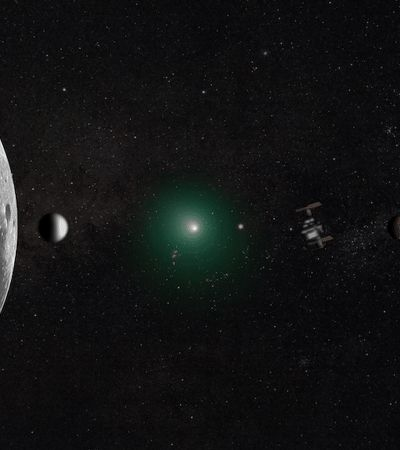 Como foi possível tirar esta foto maravilhosa do Sistema Solar