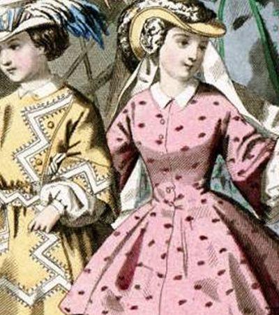 Nem azul nem rosa. A roupa ideal pra crianças de ambos os gêneros era o vestido, até o século 18