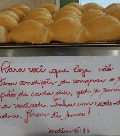 Padaria em SP dá pão de graça a quem precisa: 'Pode se servir à vontade'