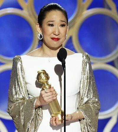 Sandra Oh faz história três vezes em noite feminista, diversa e emocionante no Globo de Ouro