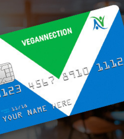 Este 'vegancard' só é aceito em restaurantes e lojas veganas