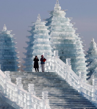 Refresque-se com essas imagens do festival de gelo, na China