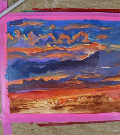 Aprenda a pintar um incrível pôr do sol em etapas fáceis de seguir