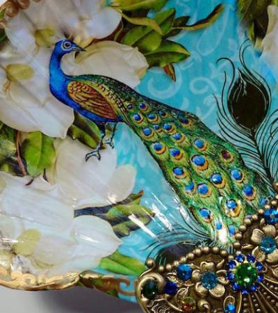 Artista transforma conchas reais em pratos que são verdadeiras joias