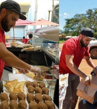 Refugiado sírio distribui sanduíches, quibes e esfihas para famílias de Brumadinho