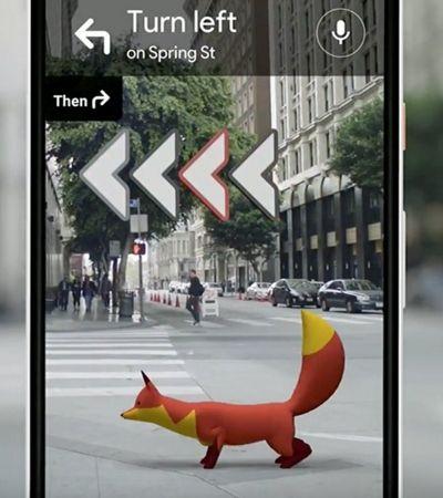 Google Maps testa app de realidade aumentada com animações de animais