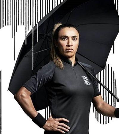 Marta protagoniza campanha para 'The Umbrella Academy', da Netflix