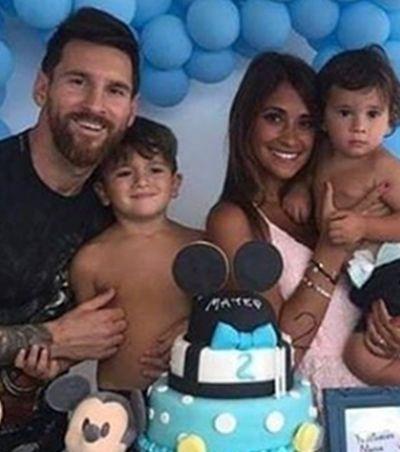 Mickey de segunda linha em festa de filho de Messi viraliza e vira meme