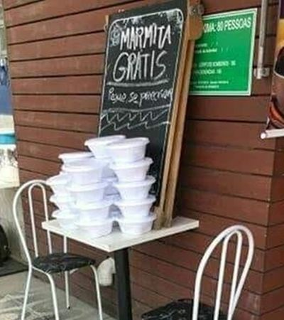 Restaurante de SC oferece marmitas grátis para quem precisa