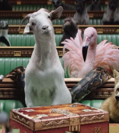 Jornais ingleses retratam políticos como animais em vídeo de campanha