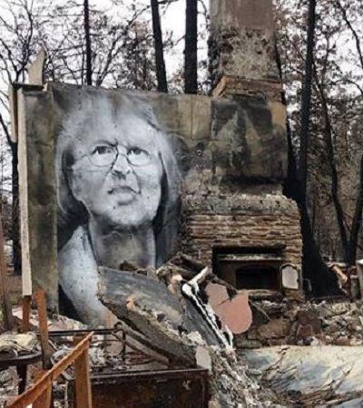 Artista transforma as cinzas dos incêndios da Califórnia em incríveis murais