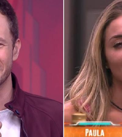 'Você fala o que quiser': Leifert 'passa pano' para racismo de Paula ao vivo no BBB