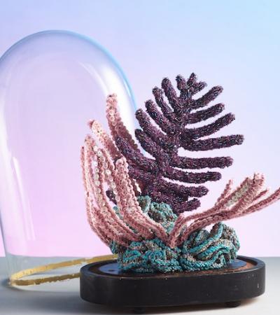 Artista cria incríveis esculturas de coral bordadas para incentivar a preservação dos oceanos