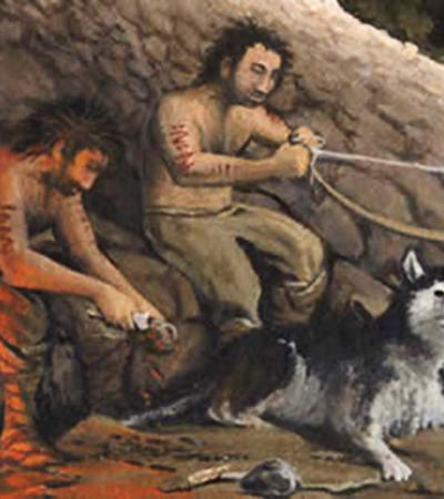 Nossos ancestrais faziam funerais e dividiam mesma comida cachorros, aponta estudo