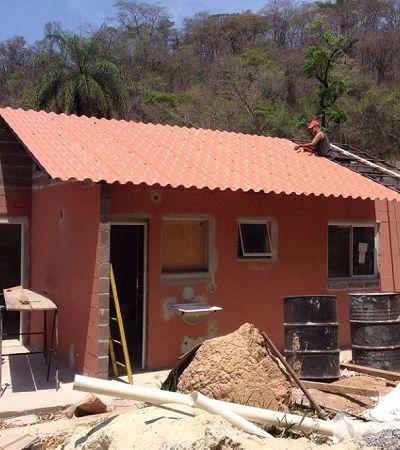 Projeto de moradia usa lama de rejeitos para construir casa