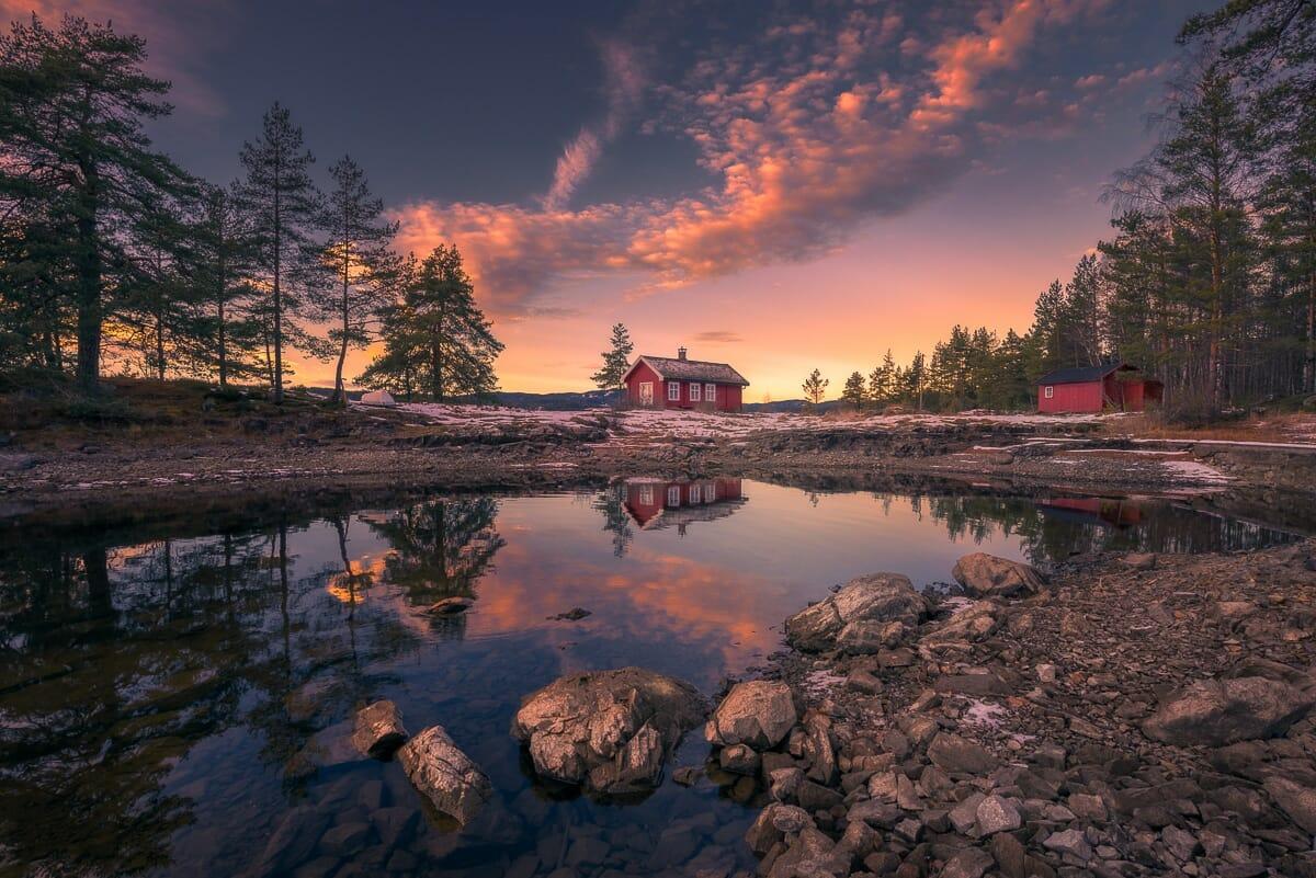 casa vermellha noruega 1