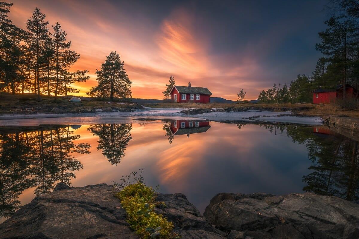 casa vermellha noruega 4