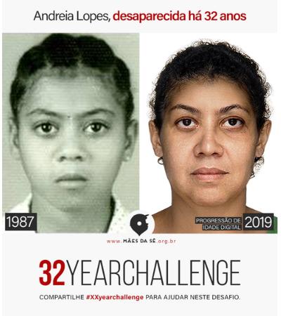 #XXyearchallenge: Mães da Sé promove desafio para ajudar a encontrar pessoas desaparecidas