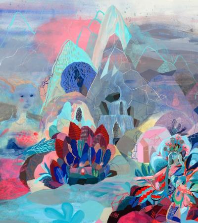 Pinturas psicodélicas transformam paisagens naturais em florestas encantadas