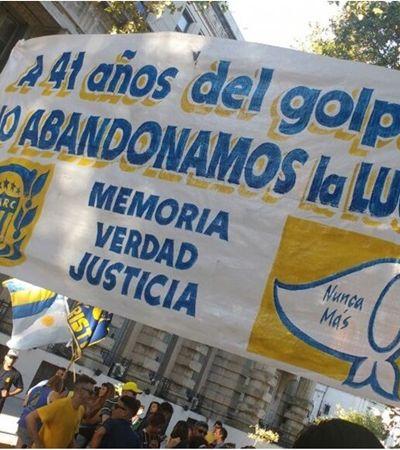 Clubes argentinos se unem para repudiar ditadura e golpe militar: 'Nunca mais'