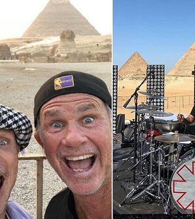 Clique aqui e veja ao vivo o show do Red Hot na Pirâmide de Gizé
