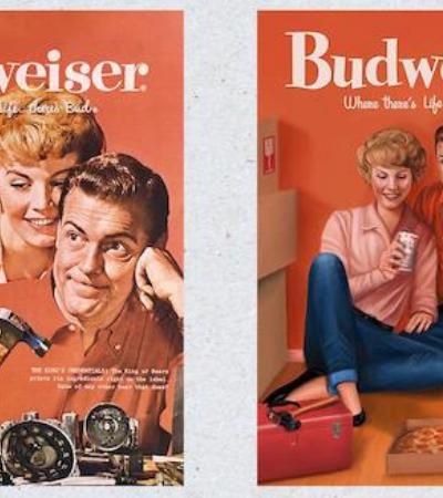 Budweiser repagina anúncios sexistas dos anos 1950 para se adequar a 2019