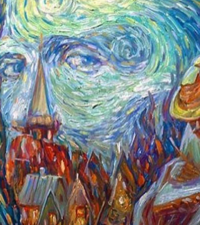 Ilusão de ótica: ele retrata ícones da arte e ciência dentro de obras de arte