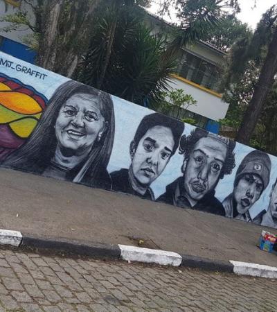 Vítimas ganham mural em escola onde foram assassinadas em Suzano