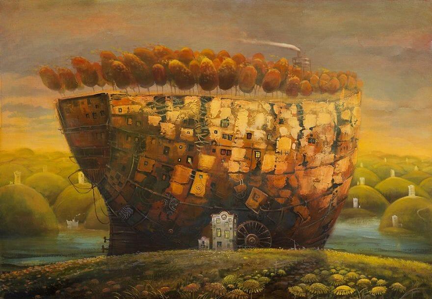pintura navio imaginário 10