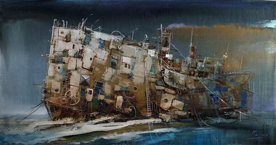 pintura navio imaginário 11