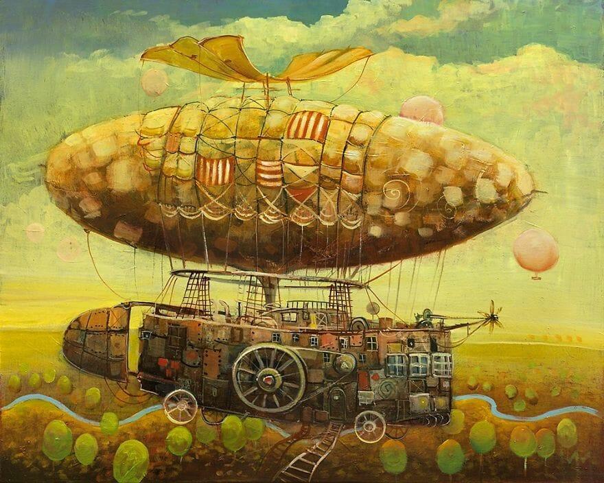 pintura navio imaginário 12