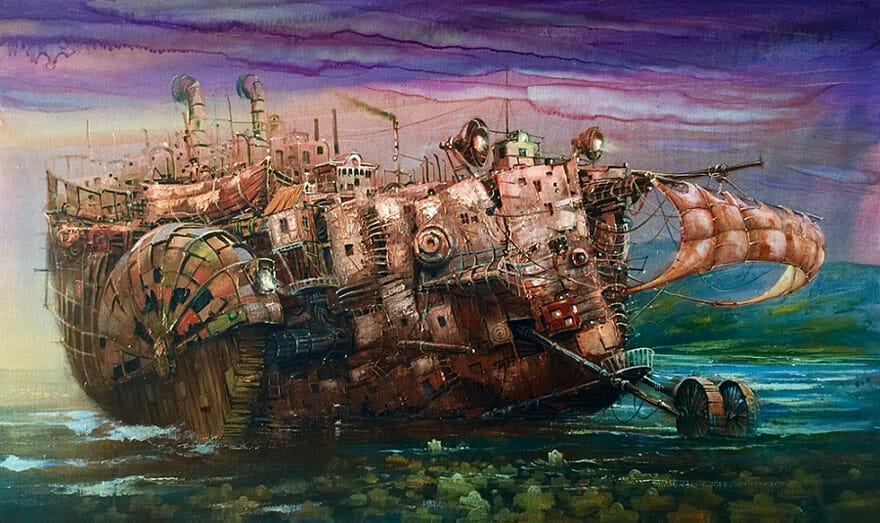 pintura navio imaginário 14