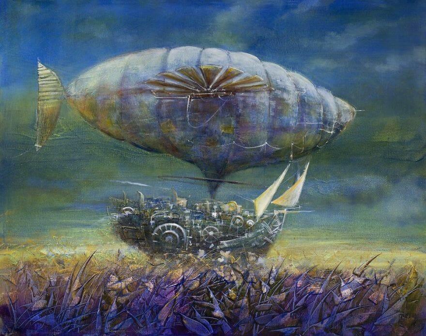 pintura navio imaginário 15