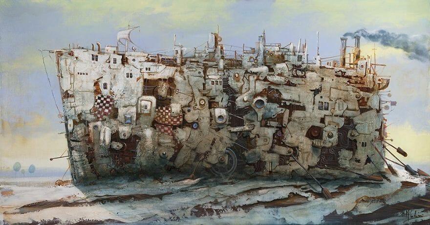 pintura navio imaginário 19