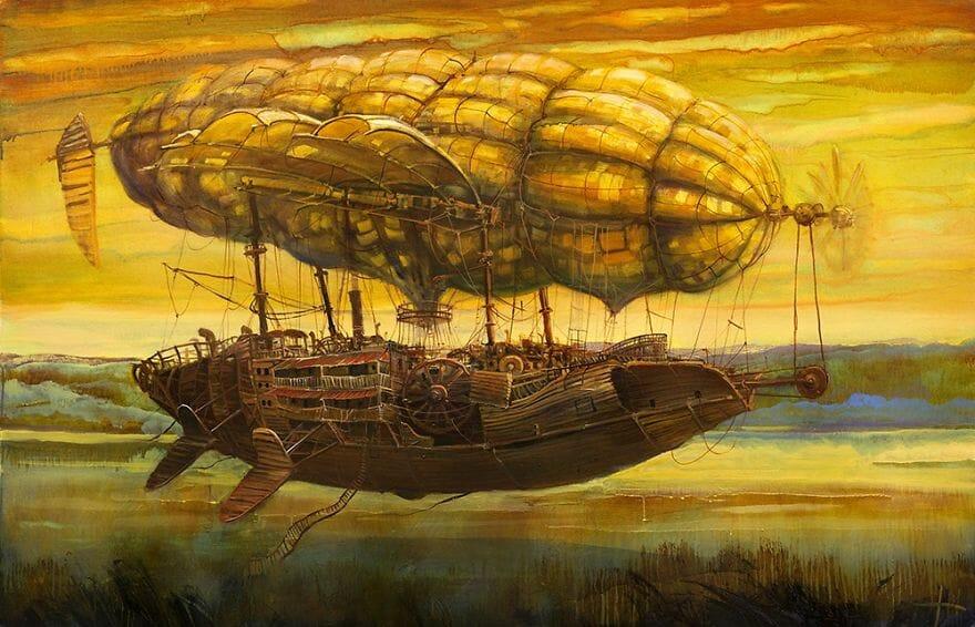 pintura navio imaginário 4